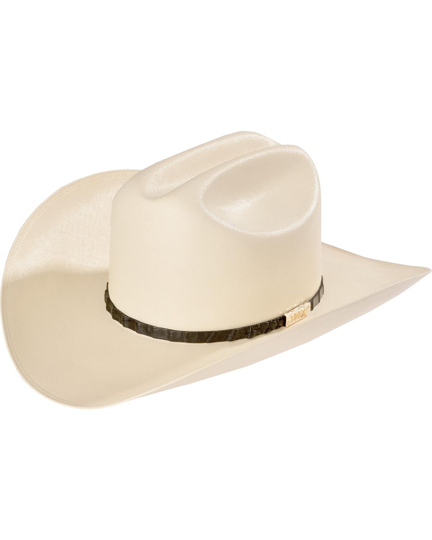 Larry Mahan Men s 100X Cien Ivory Woven Cowboy Hat  738b783af85