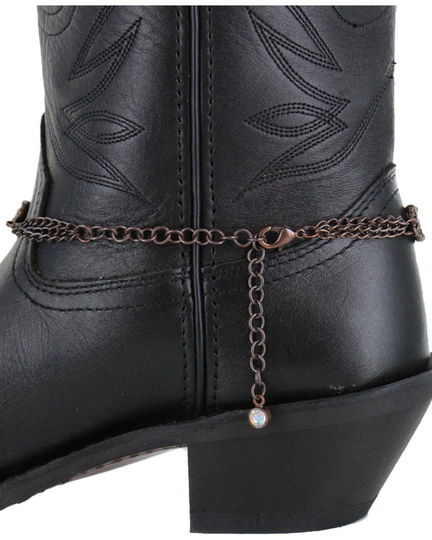 Shyanne Women S Copper Cross Boot Bracelet Brown