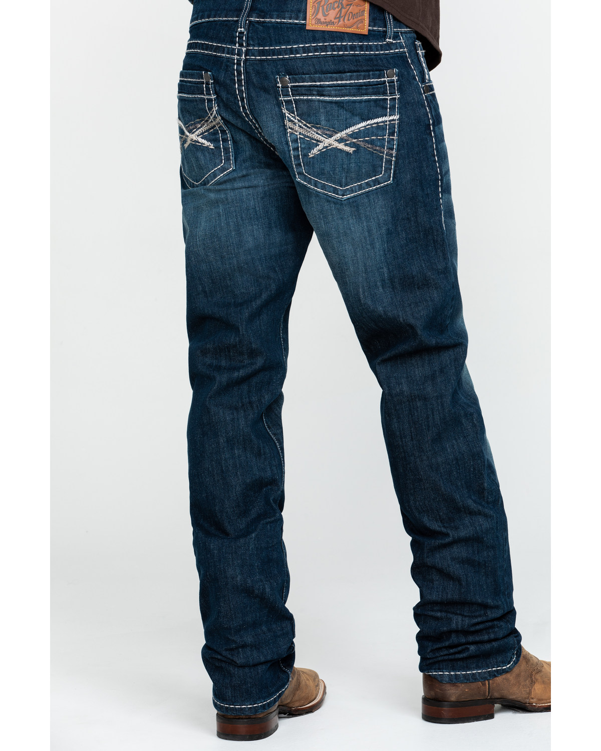 Wrangler Rock 47 >> Rock 47 By Wrangler Men S Acoustic Slim Straight Jeans