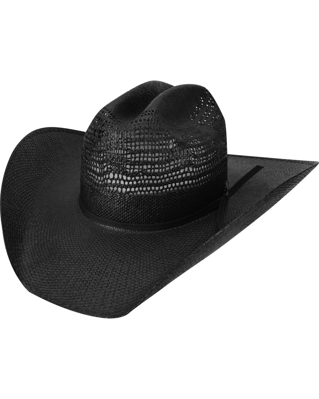 c9968f41cf184 Bailey Desert Knight Black Straw Western Hat