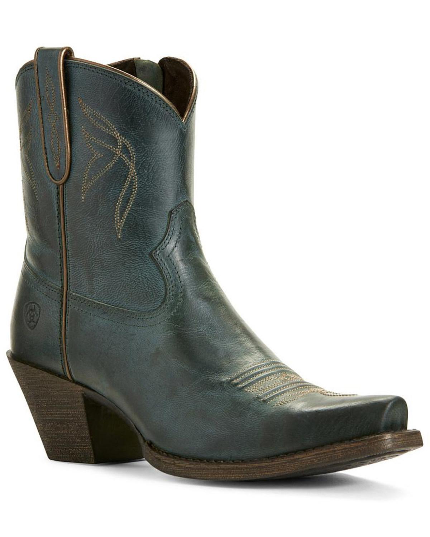 a101ea2ffe4 Ariat Women's Lovely Blue Grass Western Booties - Snip Toe
