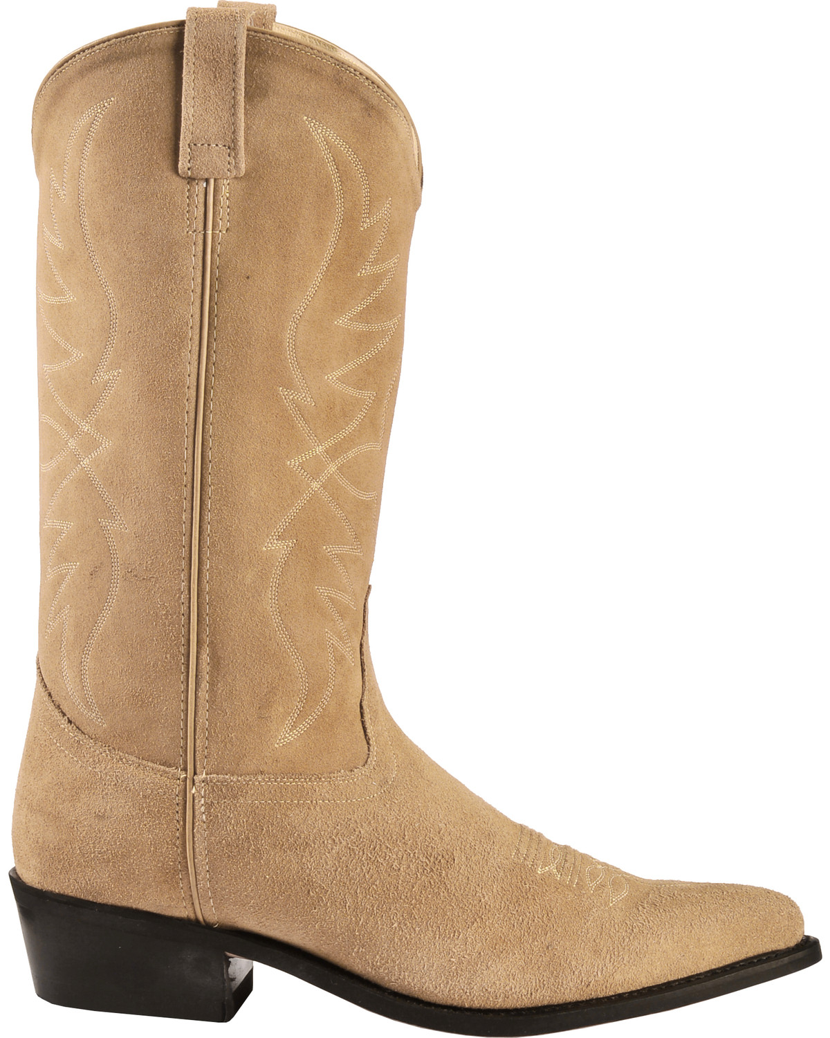 491cf163ac5 Old West Roughout Suede Cowboy Boots - Pointed Toe