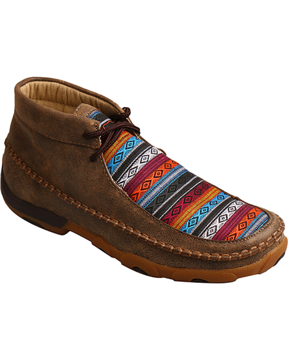 Twisted X Women's Multi-Colored Driving Moccasins
