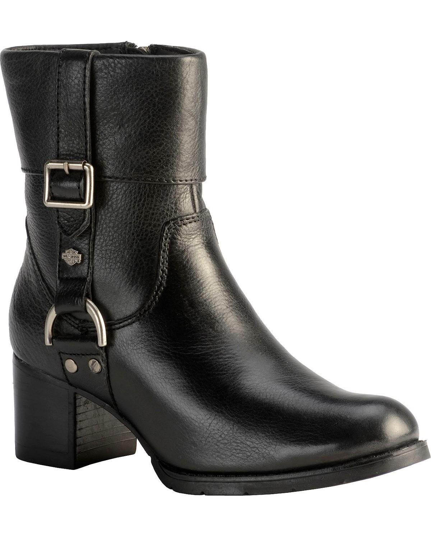 24999ad3c9ce5 Zoomed Image Harley-Davidson Women's Sadie Fashion Fashion Boots, Black, ...