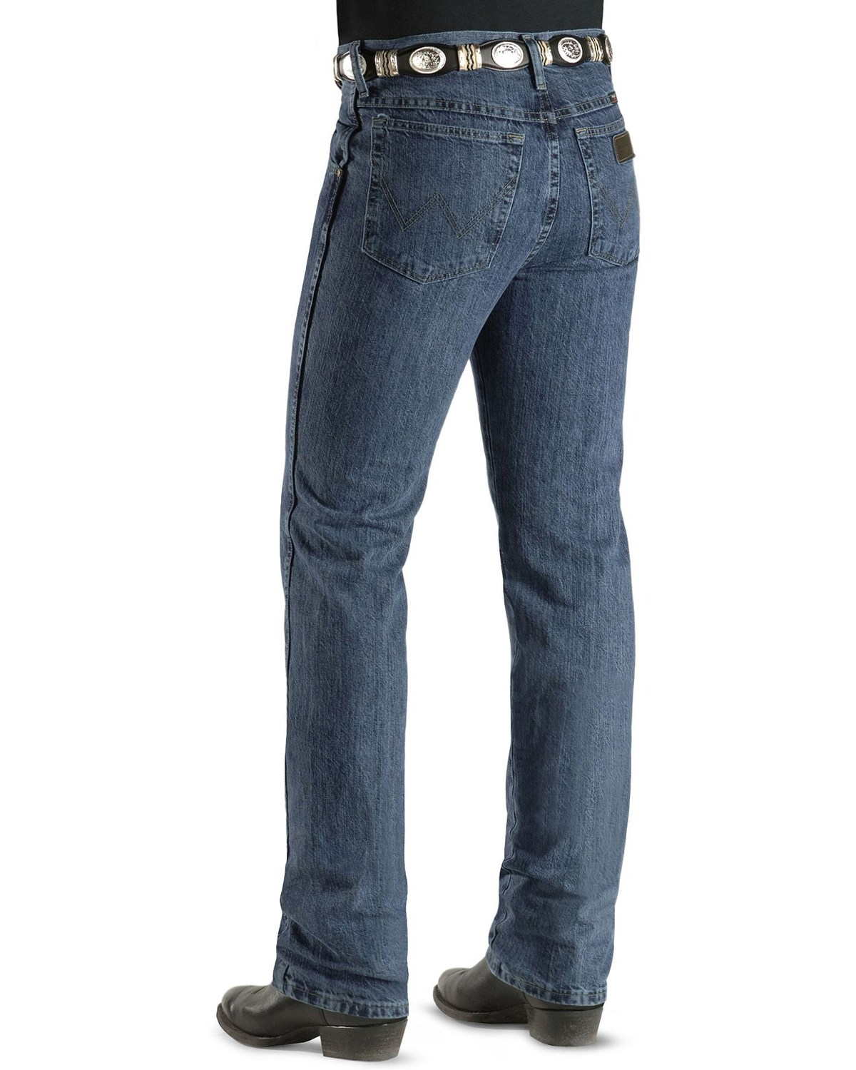 a79e9001 Zoomed Image Wrangler Men's Slim Fit Cowboy Cut PBR Jeans, Auth Stone, ...
