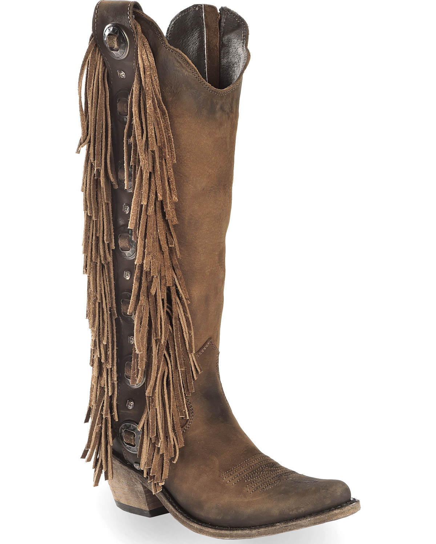 8f501291b13 Liberty Black Women's Vegas T-Moro Fringe Cowgirl Boots - Pointed Toe