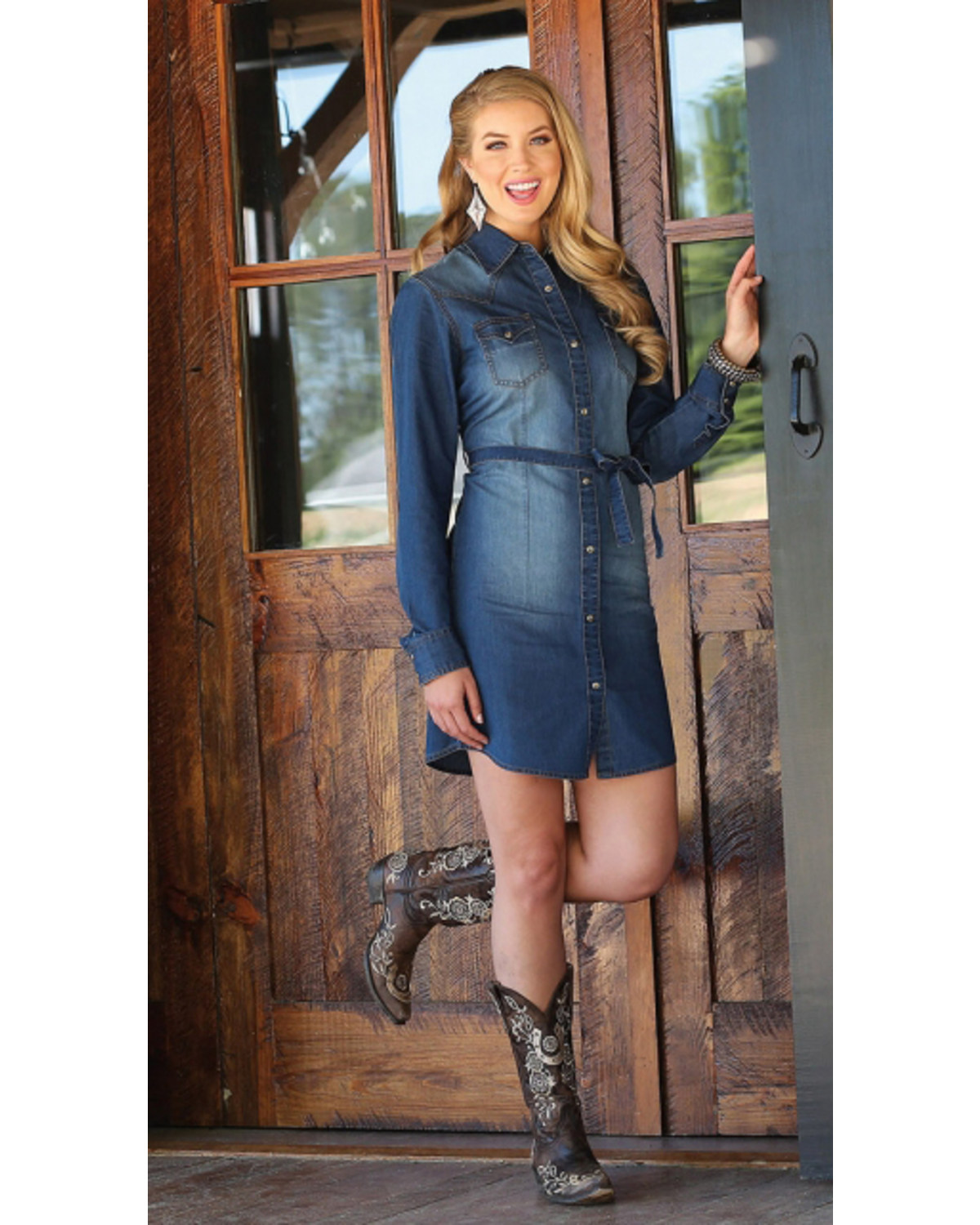 892b58784 Wrangler Women S Long Sleeve Denim Dress Boot Barn
