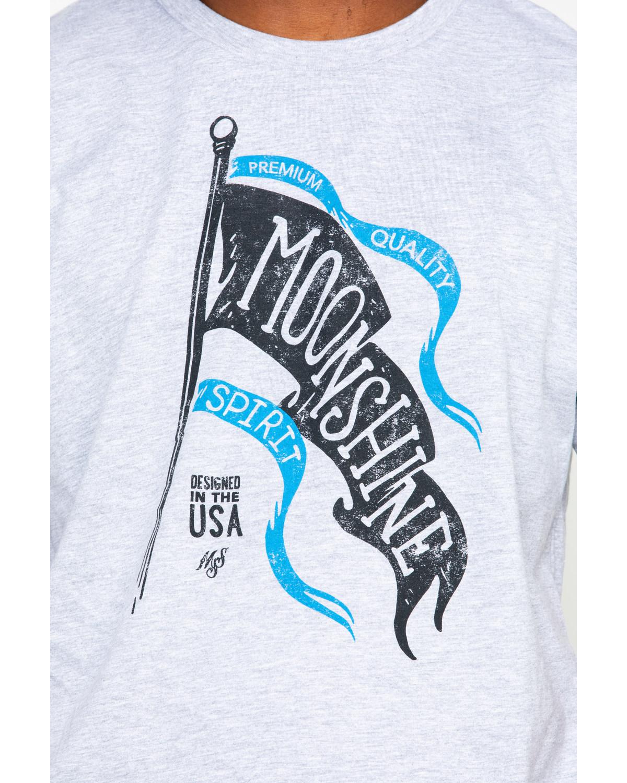 Moonshine Spirit Mens Wave Flag Screen Print T Shirt Boot Barn