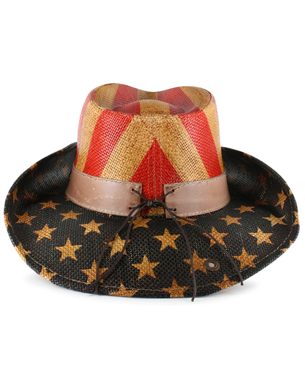 f2374cb5813 Cody James® American Flag Straw Western Hat
