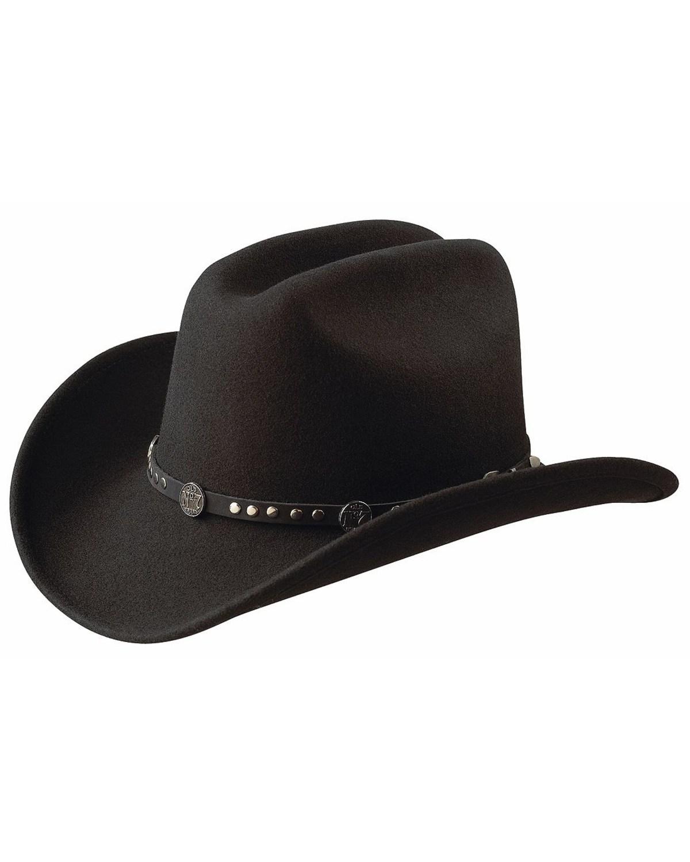 fafccc1c4a6cf9 Zoomed Image Jack Daniel's Studded Concho Wool Felt Crushable Cowboy Hat,  Black, ...