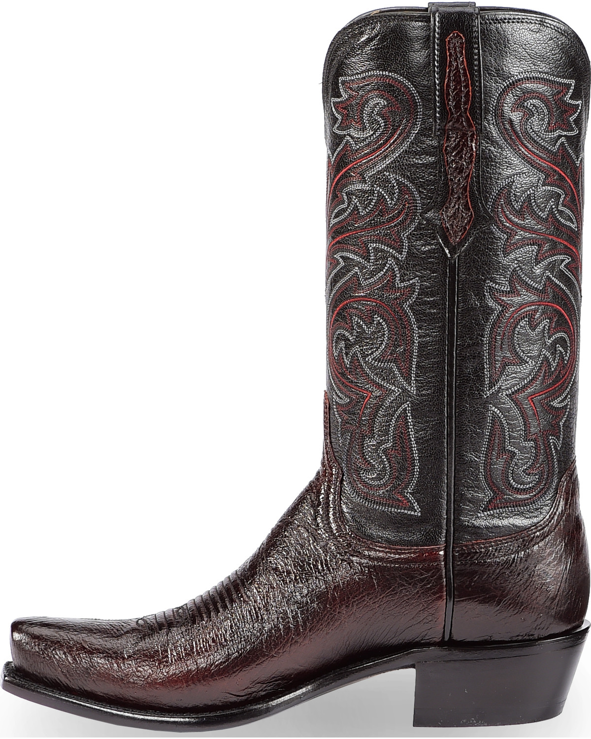 de7d89fc861ac Lucchese Men s Handmade Black Cherry Nathan Smooth Ostrich Western Boots -  Snip Toe