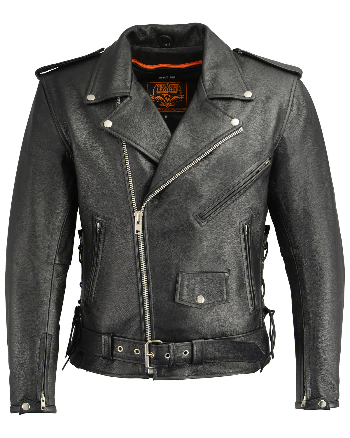 e1f0fb670e34 Milwaukee Leather Men s Classic Side Lace Concealed Carry Motorcycle Jacket