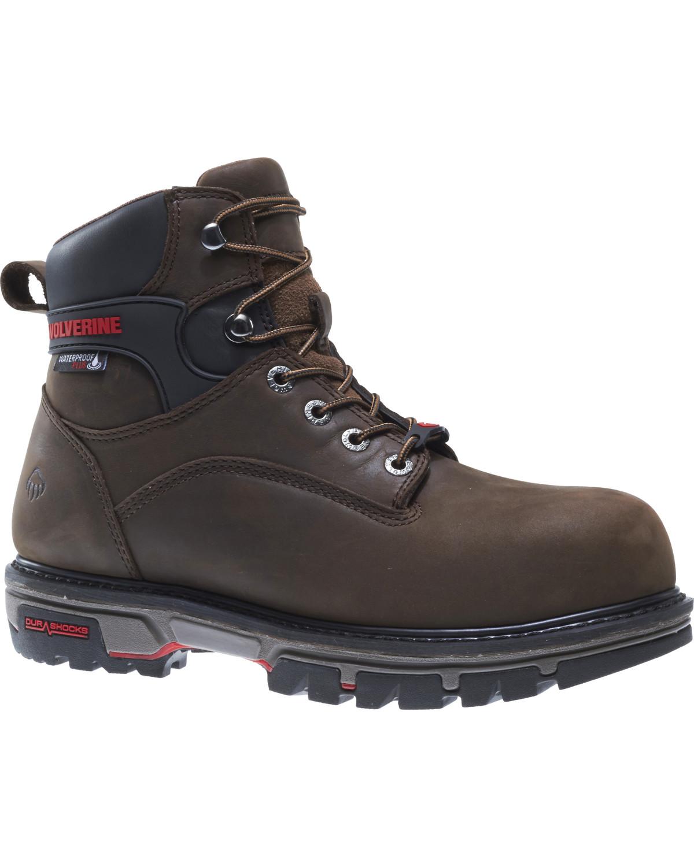9fcfdbec24d Wolverine Men's Waterproof Plus Durashock Work Boots