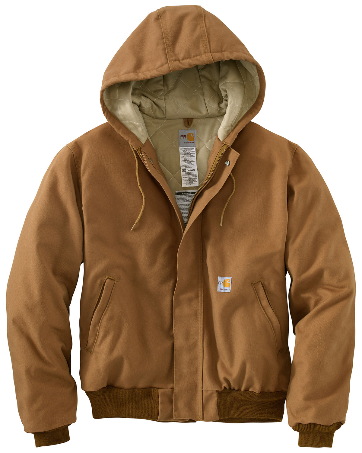 5e63c48fec Zoomed Image Carhartt Flame-Resistant Duck Active Hooded Jacket - Big &  Tall, Carhartt Brown,