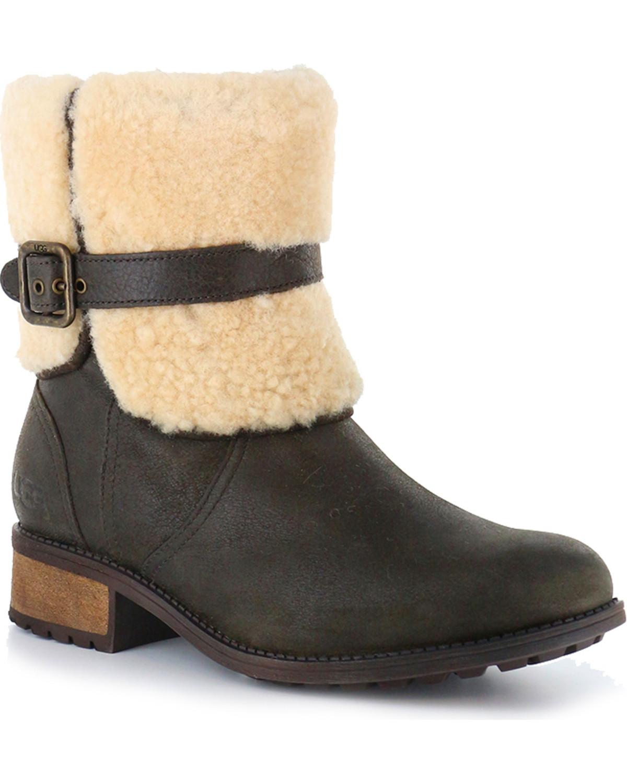 7eea3437b8b UGG Women's Lodge Avalahn Blayre II Boots - Round Toe
