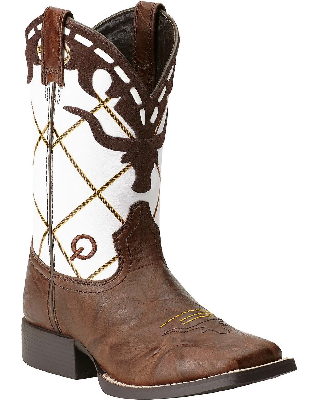 Ariat Boys Dakota Dogger Cowboy Boots Square Toe Boot
