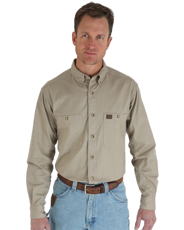 a8004b33aa4 Riggs Workwear Men s Long Sleeve Twill Work Shirt