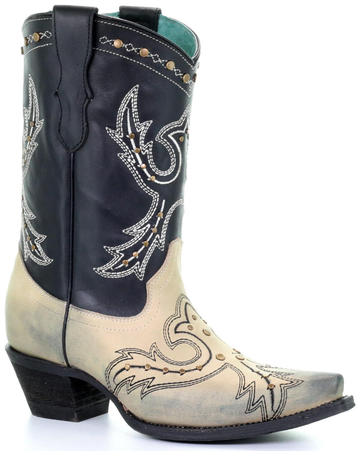 cheap prices top fashion watch Corral Women's Bone Embroidery Western Boots - Snip Toe | Boot Barn