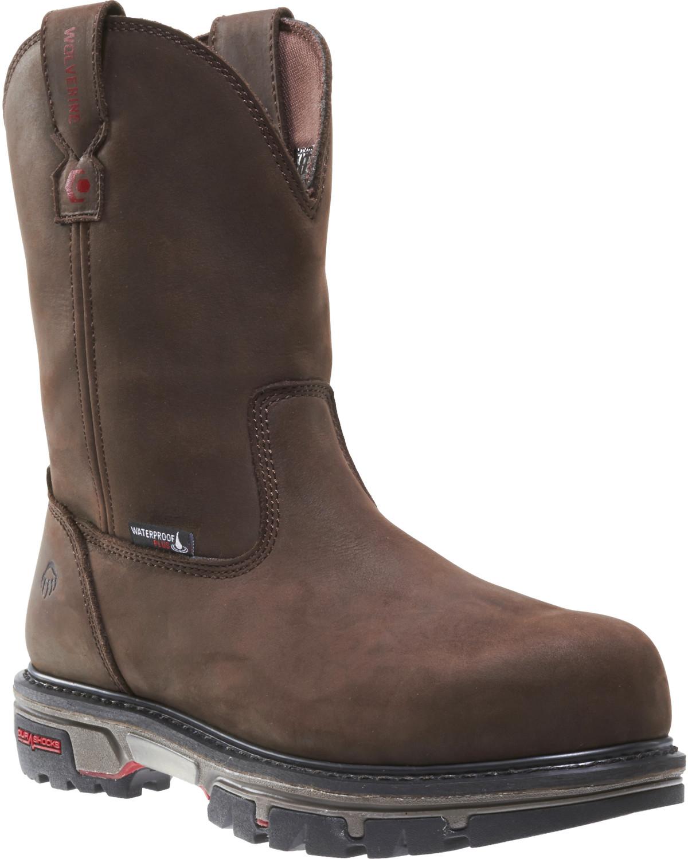 76cd9489d80 Wolverine Men's Nation DuraShocks Wellington Work Boots - Composite Toe
