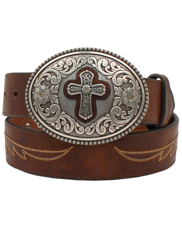 a0acf5f79f Ariat Women's Western Cross Leather Belt