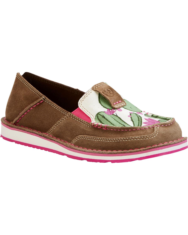 a44d3bdef67 Ariat Women s Cactus Flower Slip On Cruiser Shoes
