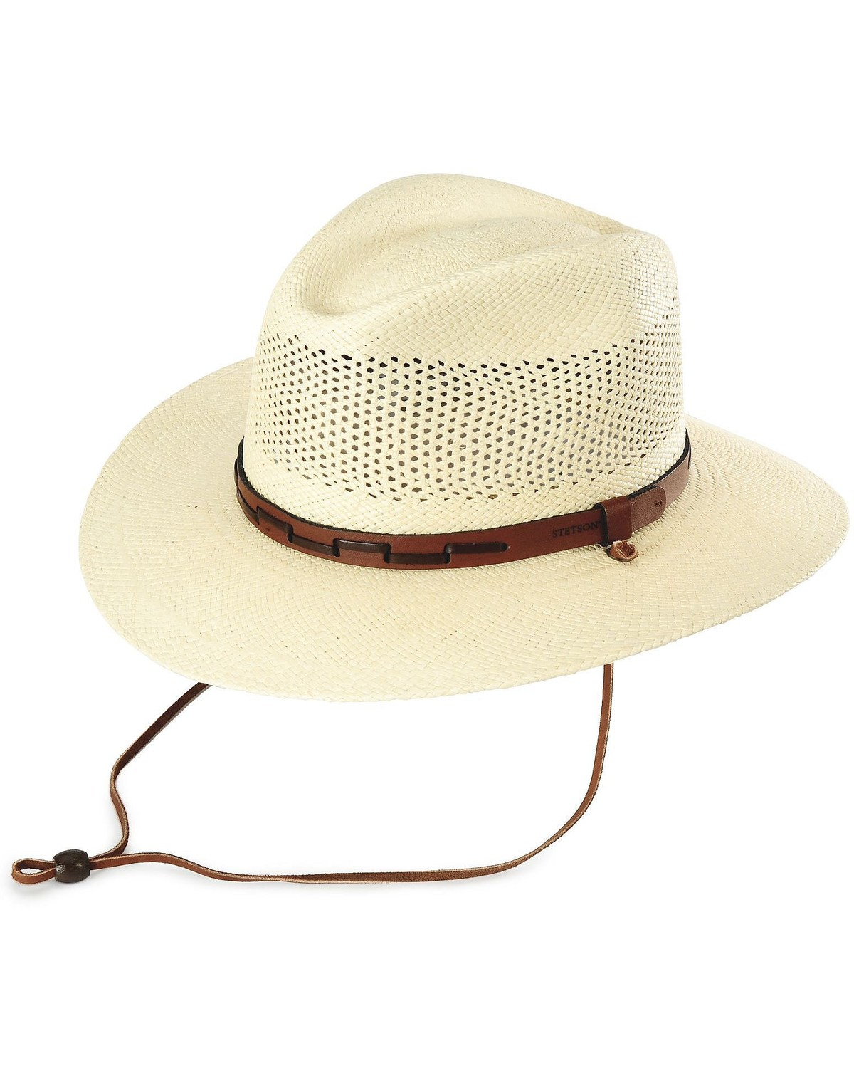 de97a1da Zoomed Image Stetson Airway UV Protection Straw Hat, Natural, hi-res