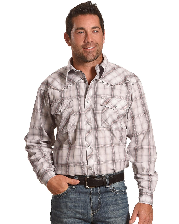 Cowboy Hardware Men's White Plaid Long