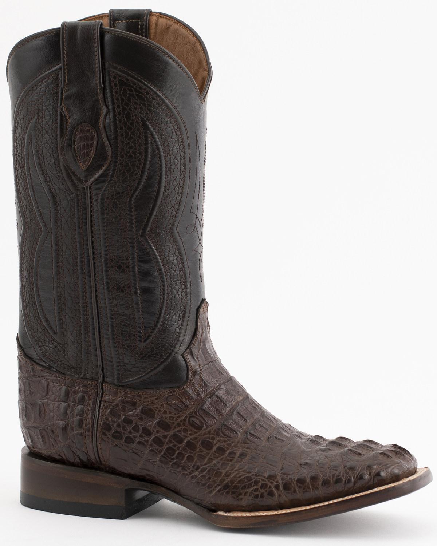 6bfbf29188a Ferrini Men's Caiman Crocodile Exotic Western Boots