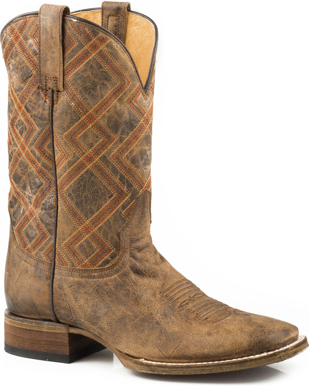 Roper Mens Vintage Square Toe Western Boot