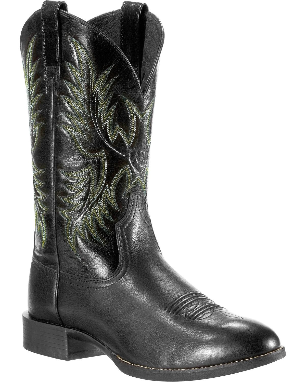 Ariat Men S Heritage Stockman Round Toe Western Boots