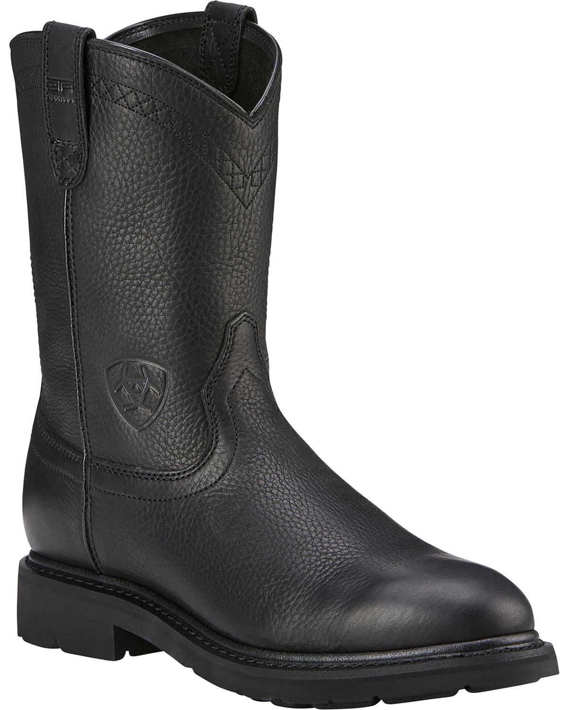 Black Slip On Work Boots