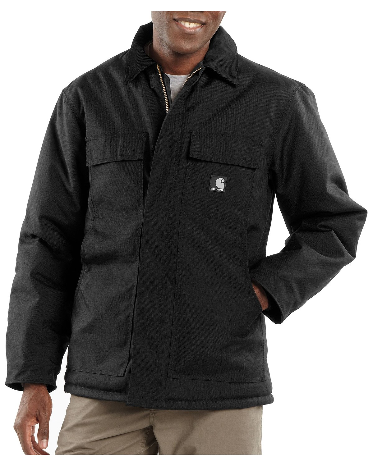 4ee4495b944 Zoomed Image Carhartt Men's Extremes Active Arctic Quilt Lined Jacket,  Black, hi-res. Zoomed Image ...