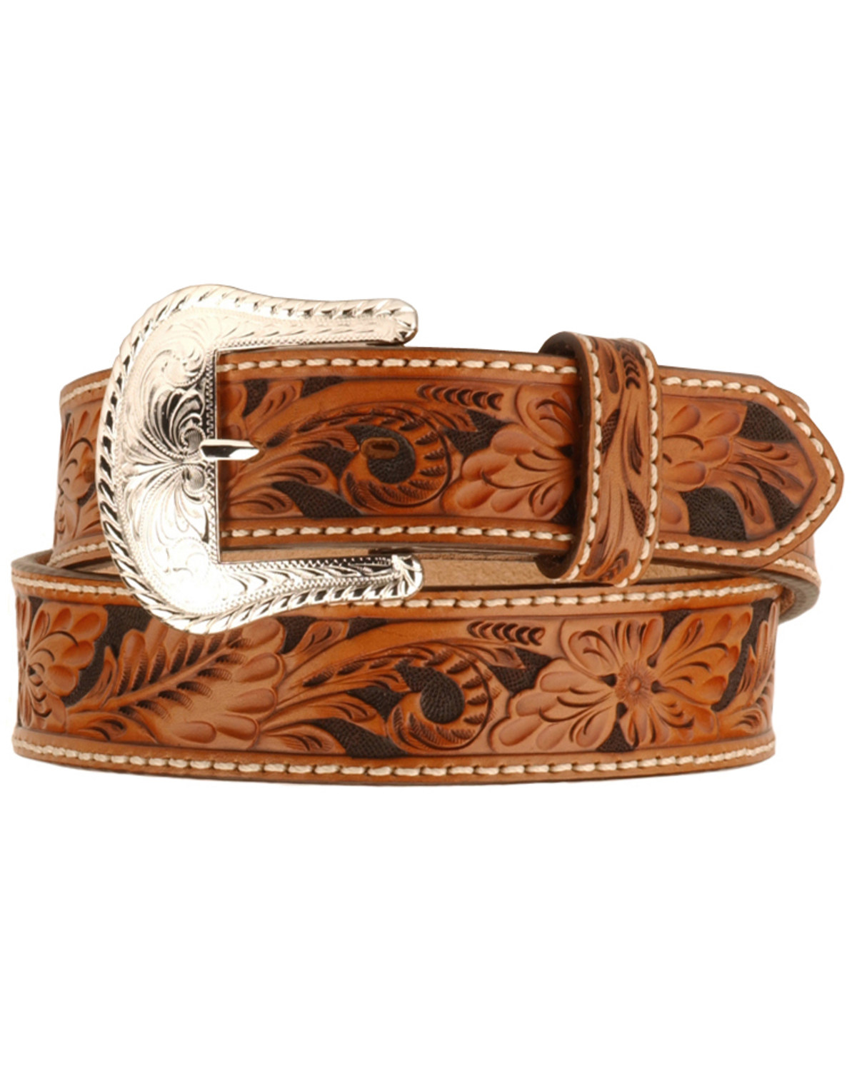 Tony Lama Men S Tooled Leather Belt Boot Barn