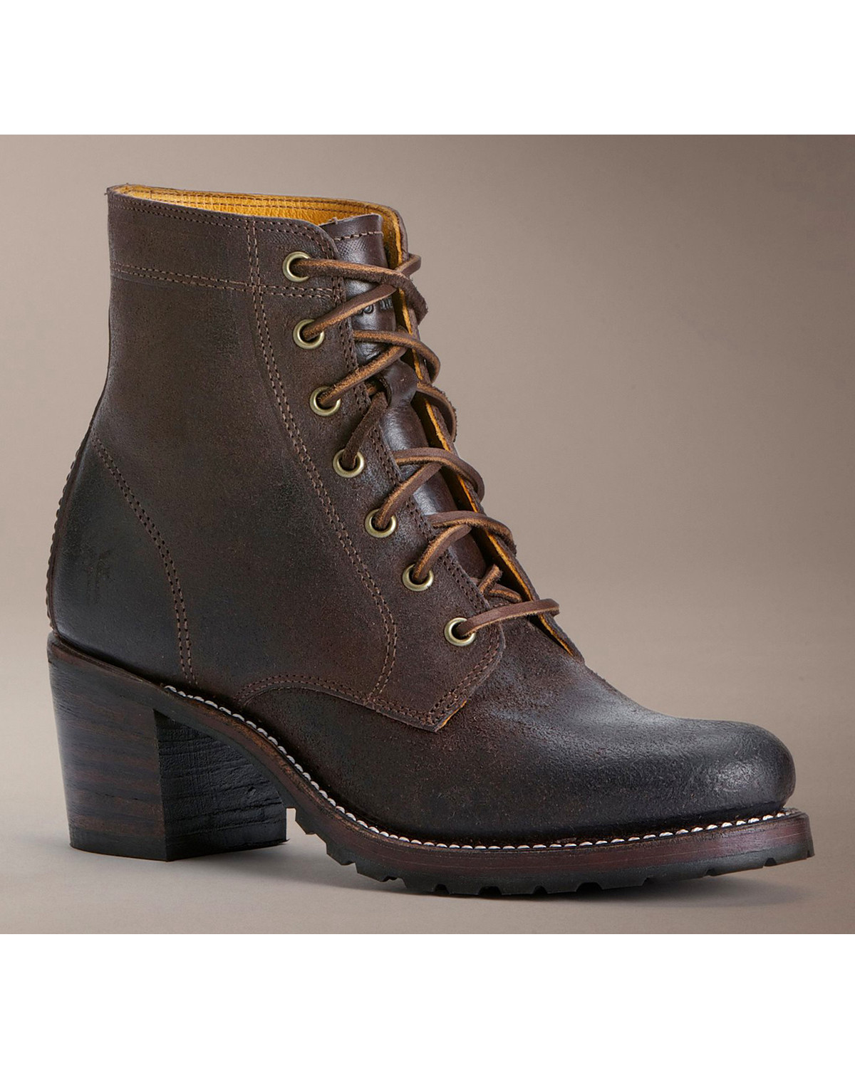 Frye Sabrina 6G Lace-Up Oiled Suede