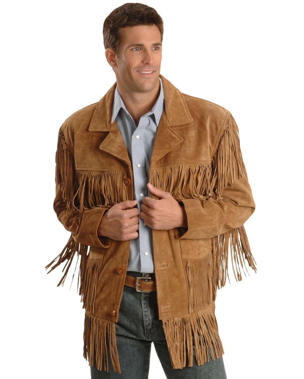 bdd0eb4f7 Liberty Wear Men's Suede Fringe Western Jacket - Big & Tall - 2XL, 3XL