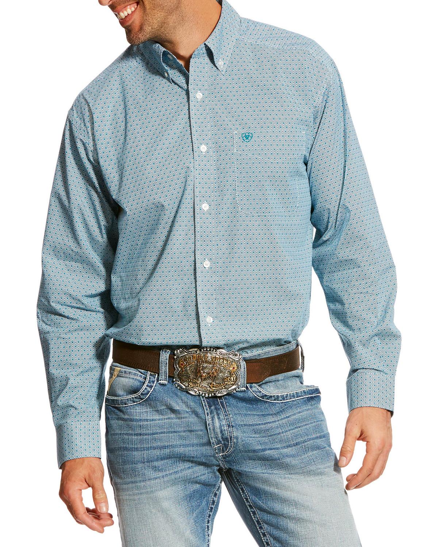 be23544f40f Ariat Men s White Banfield Print Shirt