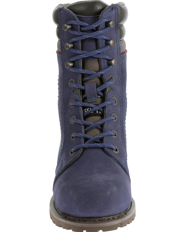 Caterpillar Women S Purple Echo Waterproof Work Boots