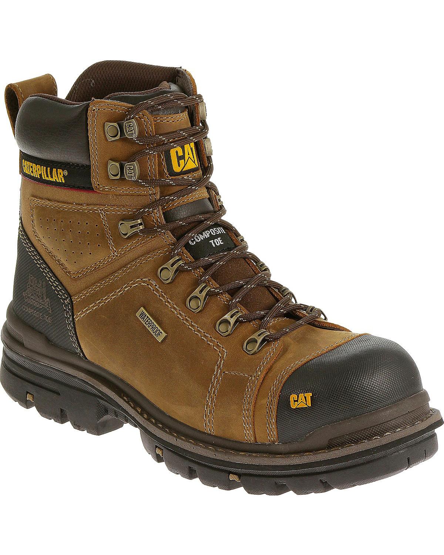 Cat Men S Hauler 6 Quot Waterproof Composite Toe Work Boots