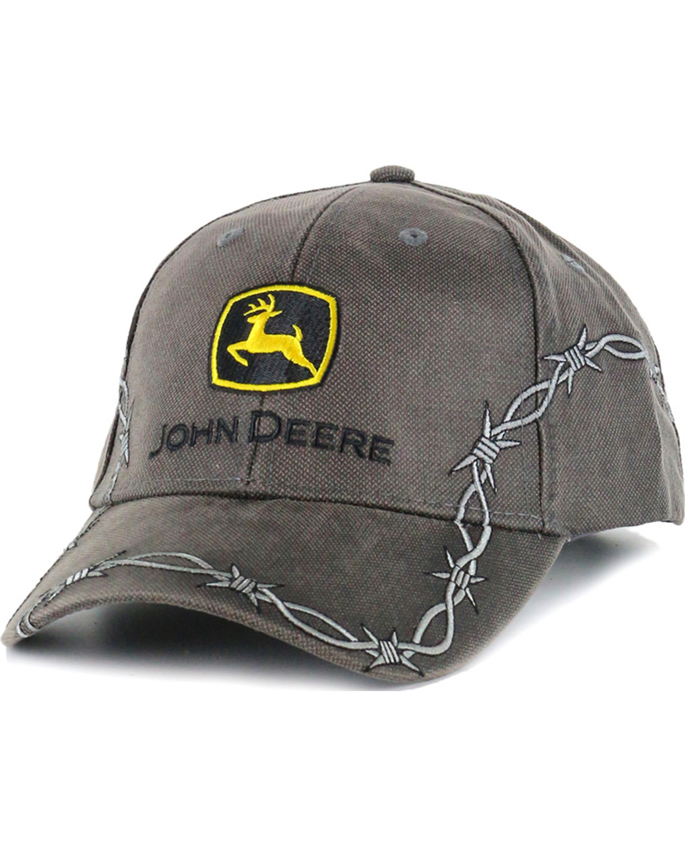 9cb1bccdcdb John Deere Men s Barbed Wire Ball Cap