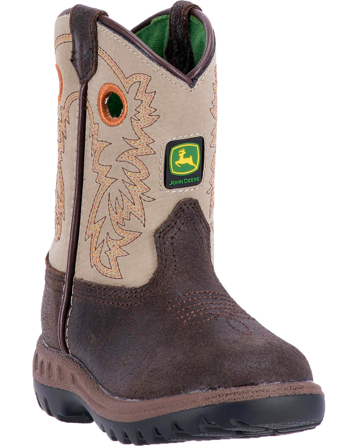 2eb30049e Zoomed Image John Deere Toddler Boys' Classic Pull-On Western Boots - Round  Toe , Brown