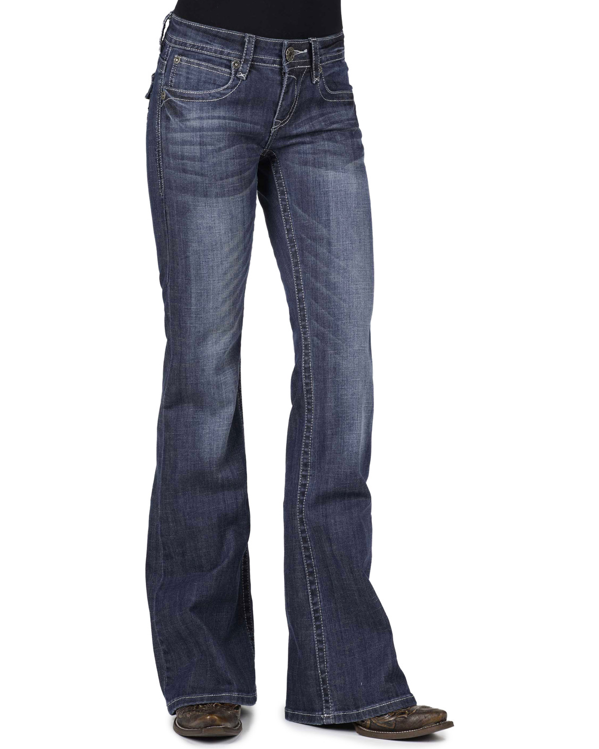 stetson women 39 s classic boot cut jeans boot barn. Black Bedroom Furniture Sets. Home Design Ideas