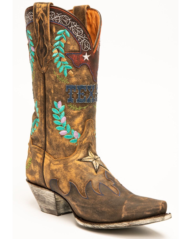 f65a0be17c2 Dan Post Women's Cowboy Texas Western Boots - Snip Toe