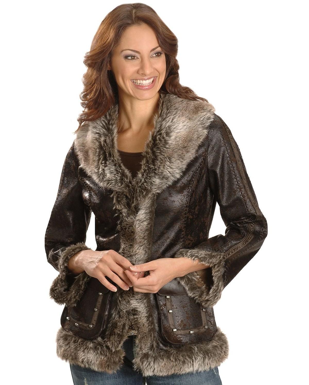 Scully Women's Faux Fur Shearling Jacket | Boot Barn
