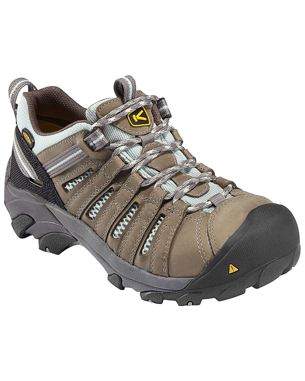 f255fb27bf Zoomed Image Keen Women's Flint Low Waterproof Steel Toe Work Shoes, Olive,  ...