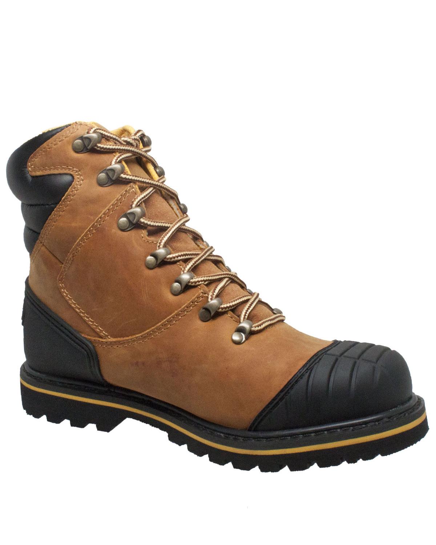 047bfadbacd Ad Tec Men's Light Brown Work Boots - Steel Toe