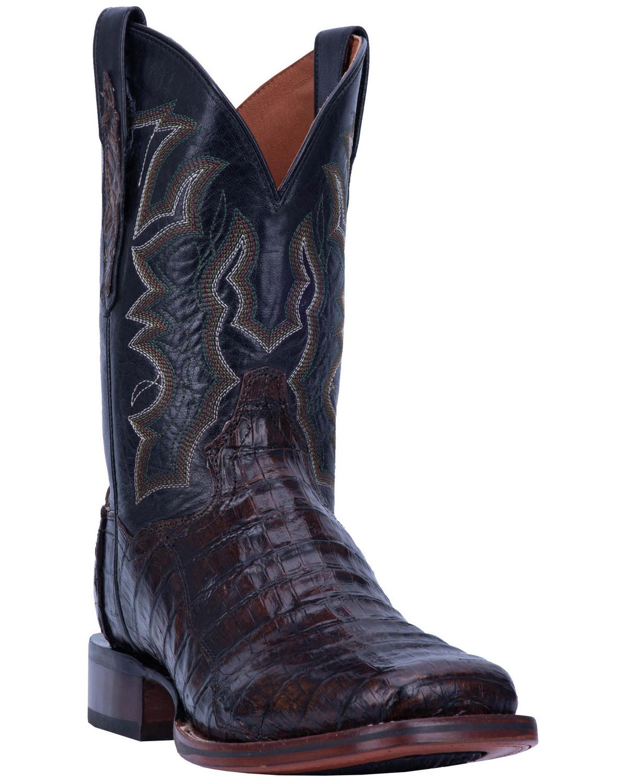 793eff3c5af Dan Post Men's Kingsly Caiman Leather Western Boots - Wide Square Toe