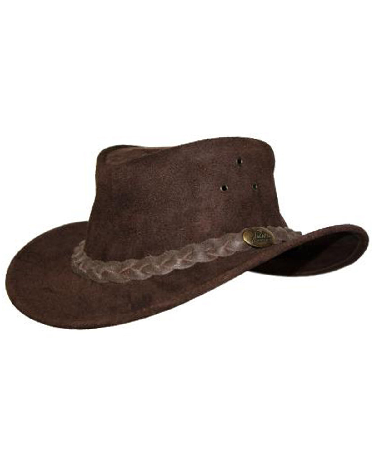 Jacaru Men s Gabba Leather Outback Hat  35adcc5d87e4