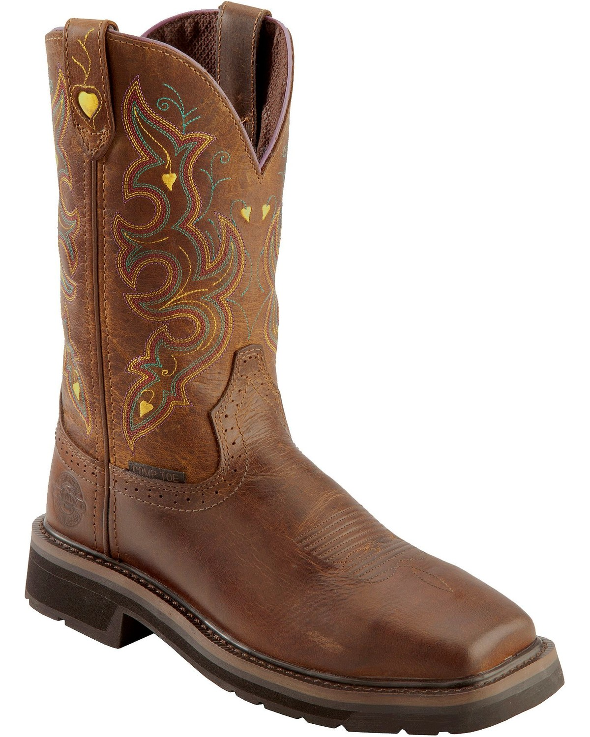 Justin Women's Pull-On Work Boots