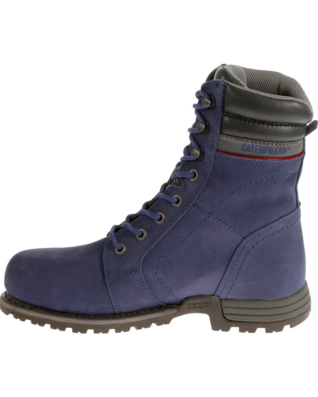 Caterpillar Women s Purple Echo Waterproof Work Boots - Steel Toe ... 803b663f4a