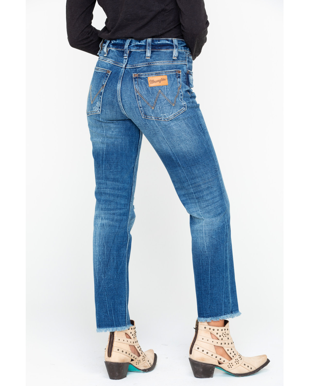Wrangler Women S Modern High Rise Crop Jeans Boot Barn